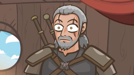 【中英双字】猎魔人:狂黑(巫师3狂猎搞笑动画