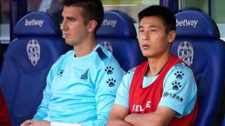 西甲-西班牙人1-0莱万特,武磊未出场新帅获首胜