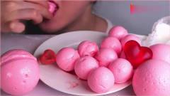 《韩国农村美食》美女吃自制Q弹爽滑的果冻球吃