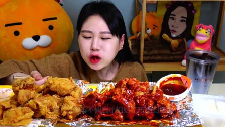"""韩国美女极限挑战,吃""""变态辣""""螃蟹+五花肉,"""