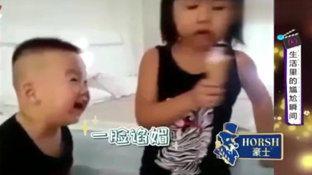 家庭幽默录像:吃货往往很卑微,但是他们也会
