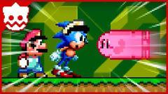 超级玛丽:马里奥超搞笑动画,马里奥vs索尼克