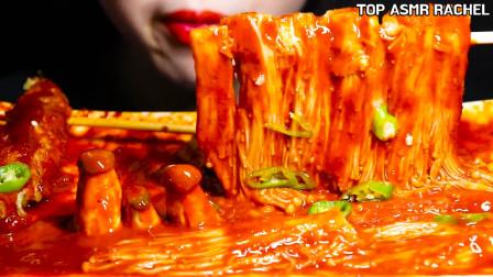 """韩国美女极限挑战:""""变态爆辣""""青椒+金针菇,"""