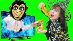 趣味恶搞游戏:小巫女偷吃小猴子的方便面