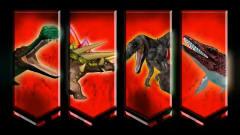 棘背龙剑龙恐鳄奇险之地竞跑 恐龙动漫特效