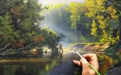 Yushkevich Victor / 写实风景画~渔夫与大河