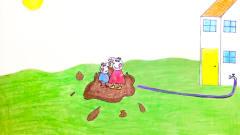 手绘定格动画:在纸上玩踩泥坑,佩奇和乔治玩