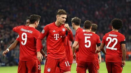 欧冠-莱万破门佩里西奇替补建功,拜仁2-0奥林匹亚科斯提前晋级