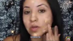 国外美女挑战用渔网袜化妆,本以为是恶搞,没