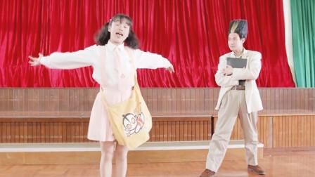 笑喷了,张学友音乐课教美女唱歌,没想到泡到