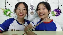 """俩女孩吃糖果舞""""魔仙棒"""",表演魔法学动物叫"""