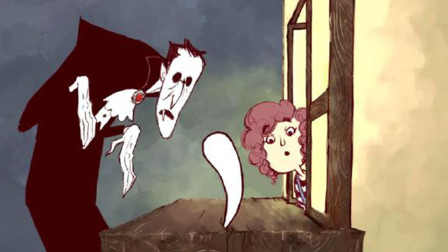 一部搞笑动画,吸血鬼掉的牙被女孩捡到,给她