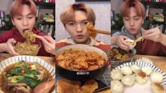 美食吃播:大胃王小哥哥吃鸡蛋炒粉和生煎包,