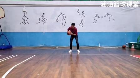 篮球视频教学:持球交叉突破,腿与肩膀的动作要协调,手臂要会护球
