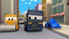 少儿卡通,百变卡车玩具动画,卡车变身雷神战