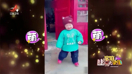 家庭幽默录像:被**带大的孩子,会多一项才艺,