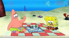 搞笑动画:小海绵和派大星玩游戏,打扰到了休