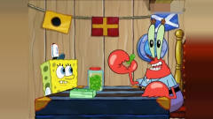 海绵宝搞笑动画:蟹老板把痞老板吃了,猜猜痞
