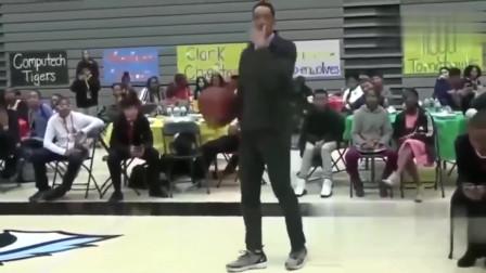 能当上体育老师的都有两把刷子!这个老师一身