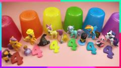 创意四叶草彩虹杯奇趣蛋:数字黏土4饼干和卡通