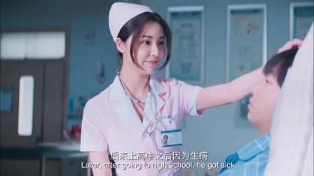美女护士这么细心的照顾,小伙的血压怎能不上