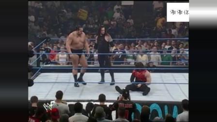 WWE凯恩即将被HHH处决,关键时刻,大秀哥送葬者