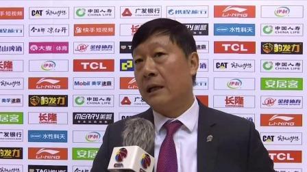 赛后采访-李秋平:首节进攻打得很差是输球主因