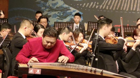 欣赏川音古筝音乐会。〈枫桥夜泊〉王建民曲,