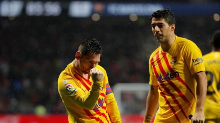 西甲-梅西绝杀制胜皮克中框+伤退,巴萨1-0马竞回榜首