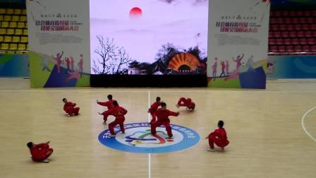少年集体武术表演 2019滨海新区社会体育指导员交