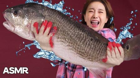 美女吃货处理活鱼被吓哭,网友们炸锅了,就这