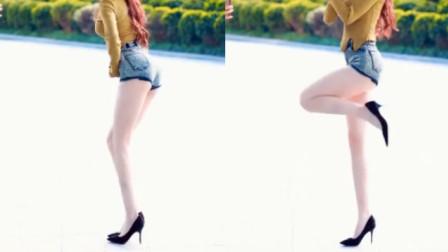 街拍热舞小姐姐,这双玉腿,可真是绝了!