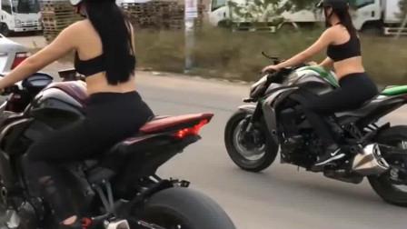 越南美女驾驶大排肌肉车出街,拉风指数爆表