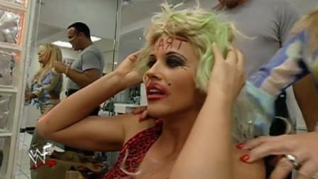 WWE:真是魔鬼托尼,一顿神操作,美女看到造型
