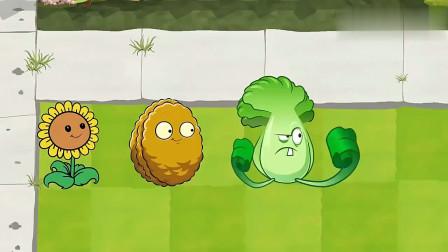 植物大战僵尸搞笑动画:小僵尸全被白菜打倒
