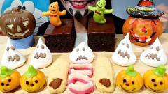 小姐姐狂吃万圣节专属糖果, 一群小幽灵飞来, 网