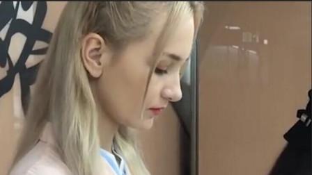 俄罗斯美女初次穿汉服,看向镜头的瞬间,网友