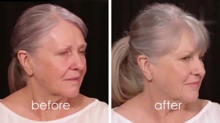 80岁老**化妆,妆后好漂亮,年轻时一定是个美女