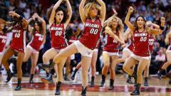 【美貌与汗水】NBA美女啦啦队训练,场上的精彩