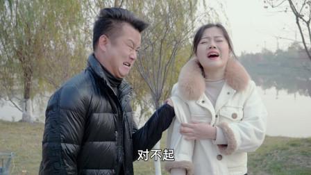 男子和老婆逛街,撞到了一名美女,两名男子却