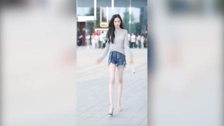 街拍美女 肤白貌美大长腿 精彩合辑 007
