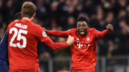 欧冠-拜仁3-1热刺,科曼进球伤退库蒂尼奥穆勒建功