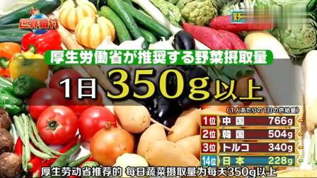 综艺:吃蔬菜最多国家的排行榜,中国第一,是