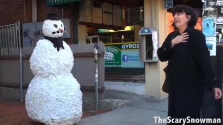 雪人国外街头恶搞瞬间
