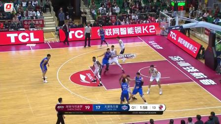 12月13日CBA集锦:贺希宁25分拜克斯20+8 深圳险胜天津结束两连败