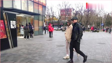 街拍:模范夫妻非常完美男嘉宾米莎和模特达莎