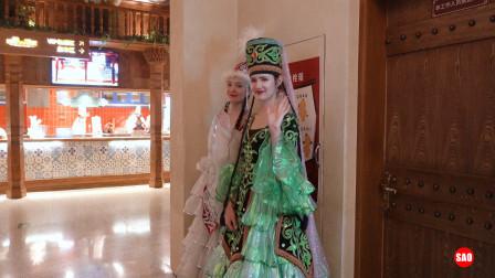 参加新疆的美食活动,新疆美女好漂亮