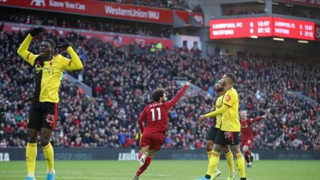 英超-萨拉赫双响奥里吉替补献助攻,利物浦2-0沃特福德8连胜