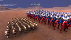 史诗战争模拟器:100只赛罗奥特曼大战100个美女