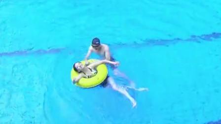 美女已经订婚,富少领着她在泳池中戏水!